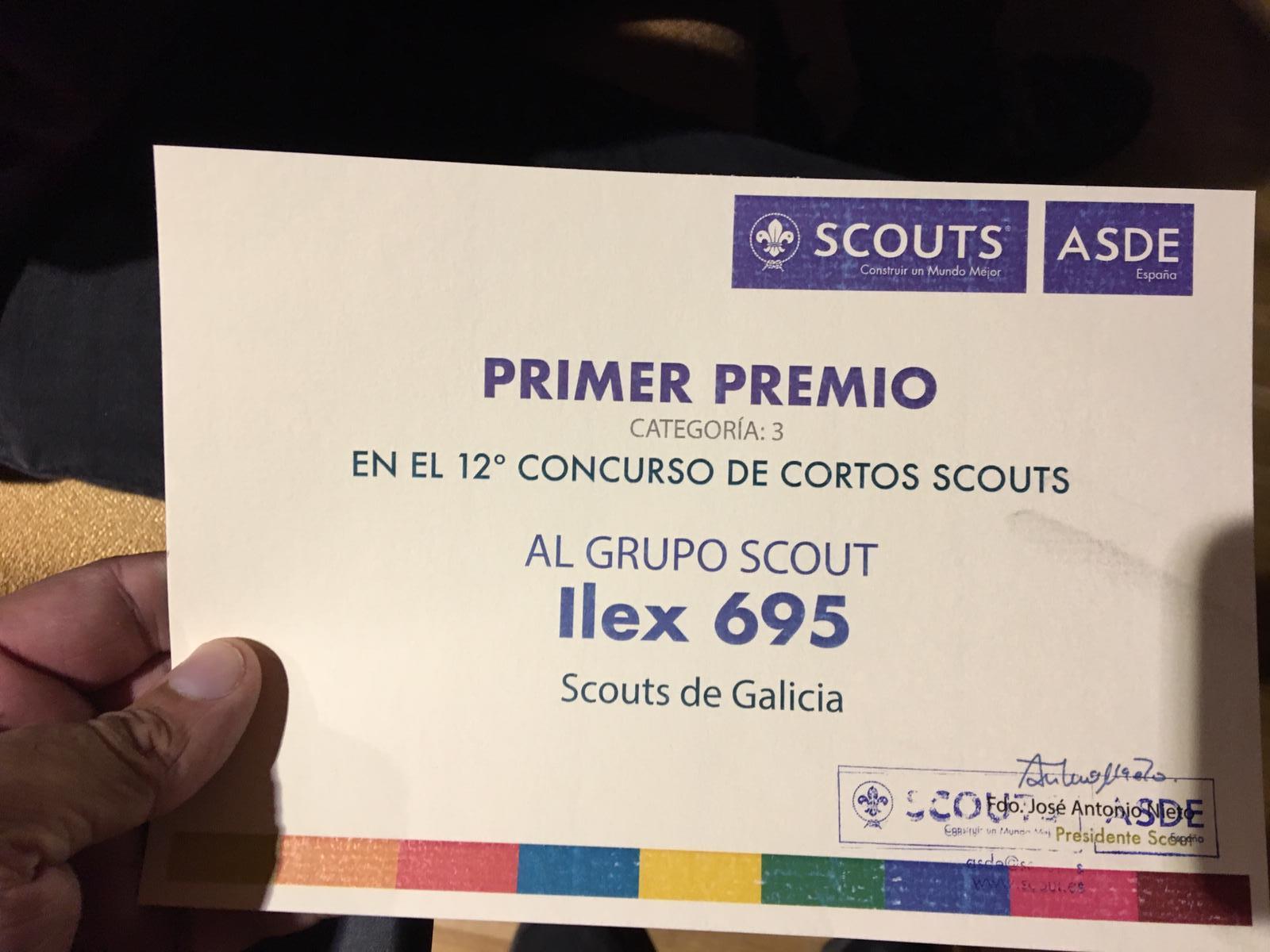 Diploma premio Cutas Scouts