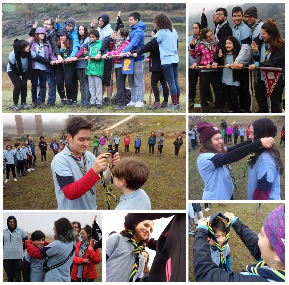 promesas scout en Portomarín Galicia